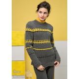 Modèle pullover jacquard 9 catalogue 211LANG YARNS