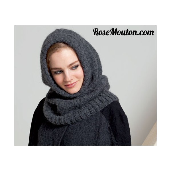 modele snood capuche tricot