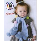 Modèle d'écharpe enfant en laine ClownLANAS STOP