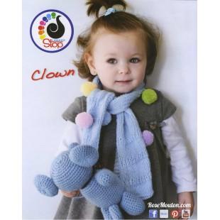 2d77fadc403a5 Modèle d'écharpe enfant en laine Clown Lanas Stop