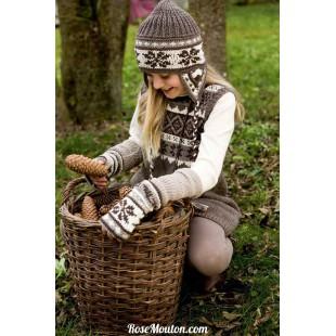 Modèle chauffe-poignets 11 catalogue FAM 222Lang Yarns