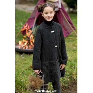 Modèle manteau 17 catalogue FAM 222Lang Yarns
